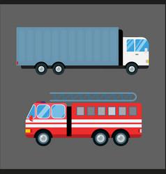 Fire truck car isolated vector