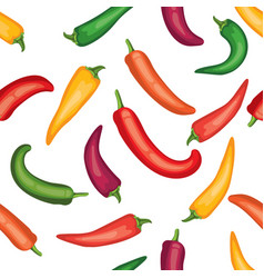 seamless chile pepper pattern vector image