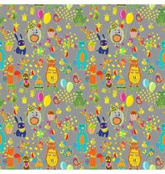 seamless hedge birthday vector image vector image