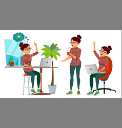 business woman character working girl vector image