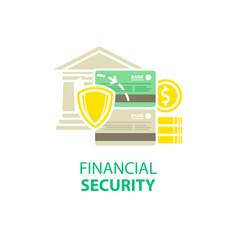 Financial security icon vector