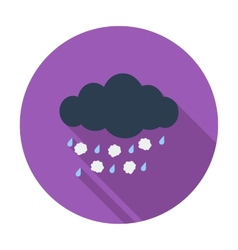 Hagel single icon vector image