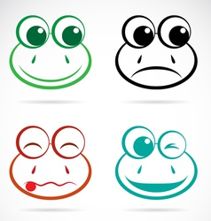 image of an frog face vector image
