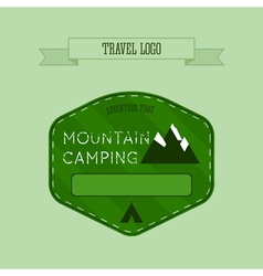Mountain camping logo labels and badges Travel vector image vector image