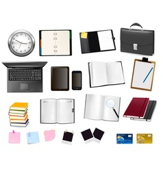 office and business supplies and busines vector image