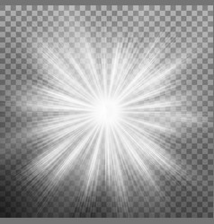 white burst glowing light explosion effect eps 10 vector image vector image