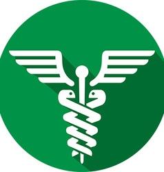 Caduceus Medical Icon vector image vector image