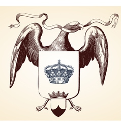 Eagle insignia vector image vector image