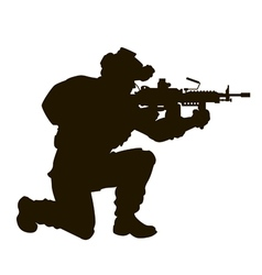 modern soldier vector image vector image