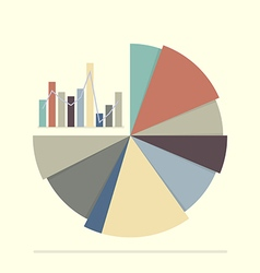 Pie chart and bar chart for documents and reports vector image