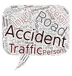 Road Traffic Accidents text background wordcloud vector image vector image
