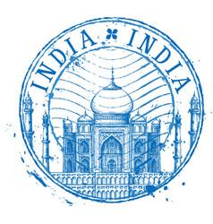 Taj Mahal logo design template Shabby vector image vector image