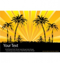 tropical sunburst vector image vector image