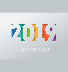 2019 happy new year background with snow flakes vector image
