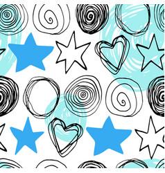 abstract scandinavian seamless pattern vector image