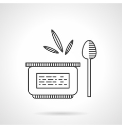 Baby food puree line icon vector image
