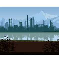 Background of oil and gas refinery vector