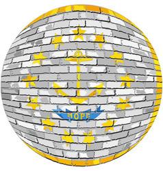 Ball with rhode island flag vector