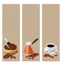 Banners with the turk bag and cup of coffee vector