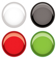 beer bottle top vector image