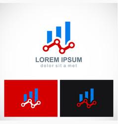 business progress dot technology logo vector image