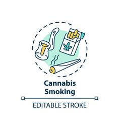 Cannabis smoking concept icon vector