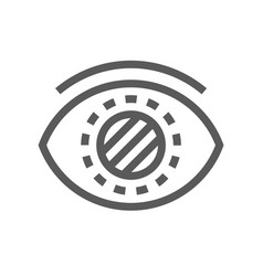 cataract glaucoma diabetes line icon vector image