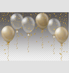 celebration background template with balloons vector image