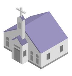 church chapel icon isometric style vector image