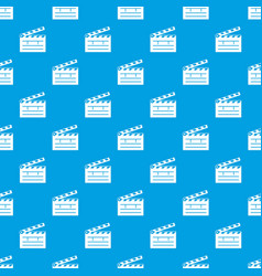 clapper pattern seamless blue vector image