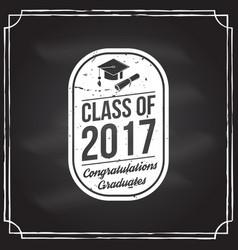 Congratulations graduates class 2017 vector