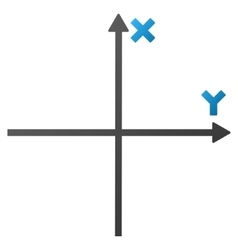 Coordinate Axis Gradient Icon vector