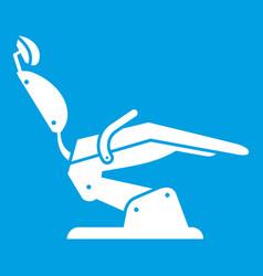 Dentist chair icon white vector