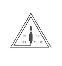 disco music logo vector image