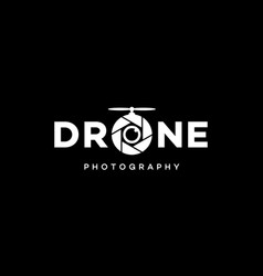 Drone photography logo design concept vector