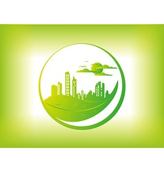 Eco city background vector