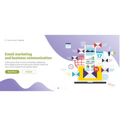 Email marketing and business communication vector