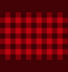 Fabric in red color tartan pattern vector