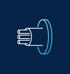 Fiber optic cable colored linear icon vector