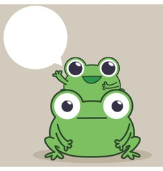 Frog Duo vector image