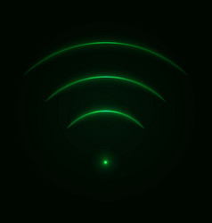Glow neon wifi sign vector