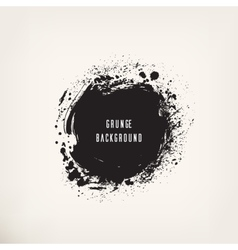 Grunge black ink circle vector