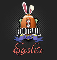 happy easter football ball in form a egg vector image