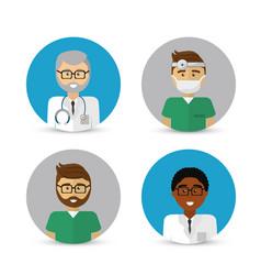 Hospital doctors icon image vector