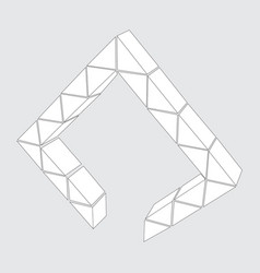 icon with geometric shapes vector image