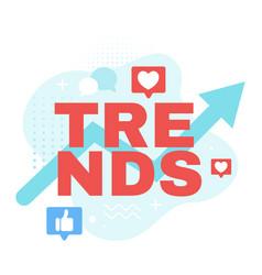 Internet trends flat web banner template vector