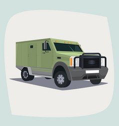 Isolated armored collector car vector