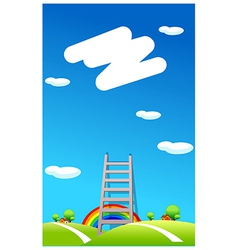 Ladder to the sky vector image