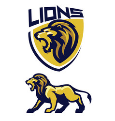 lion mascot design vector image