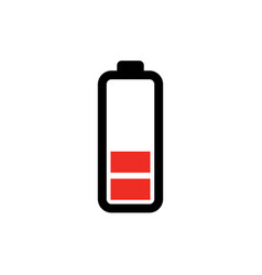 low battery icon - power battery vector image